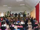 A Győri Ütőegyüttes az enesei aula színpadán